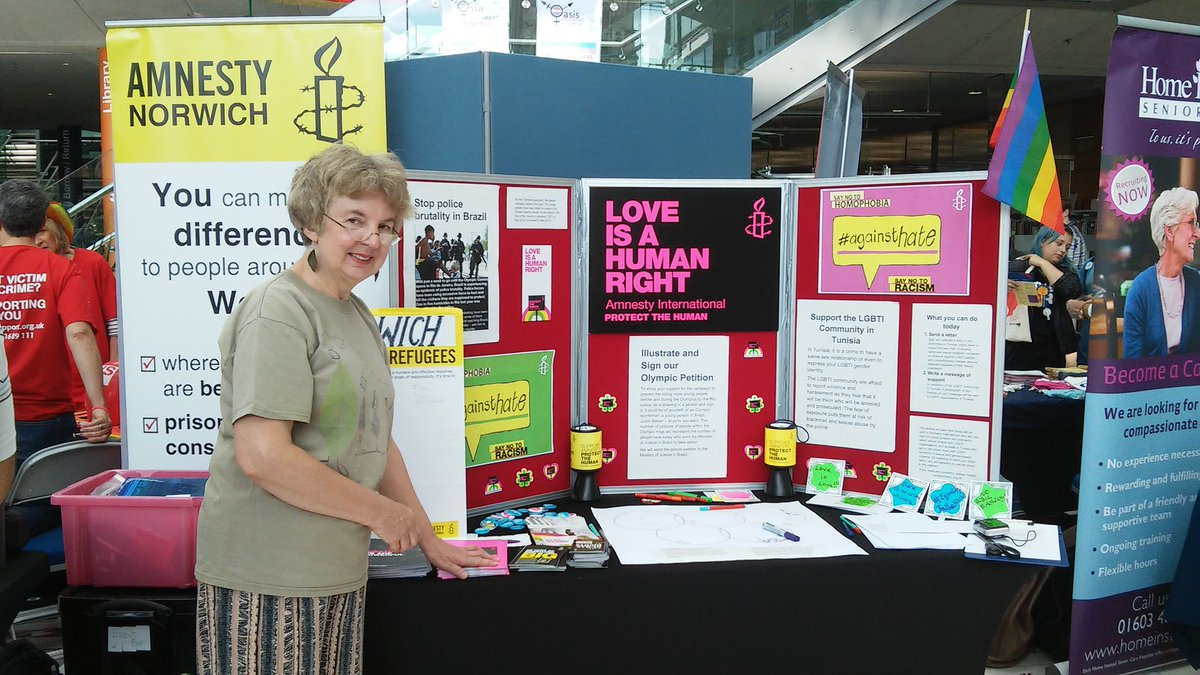Norwich Amnesty at Norwich Pride 2016