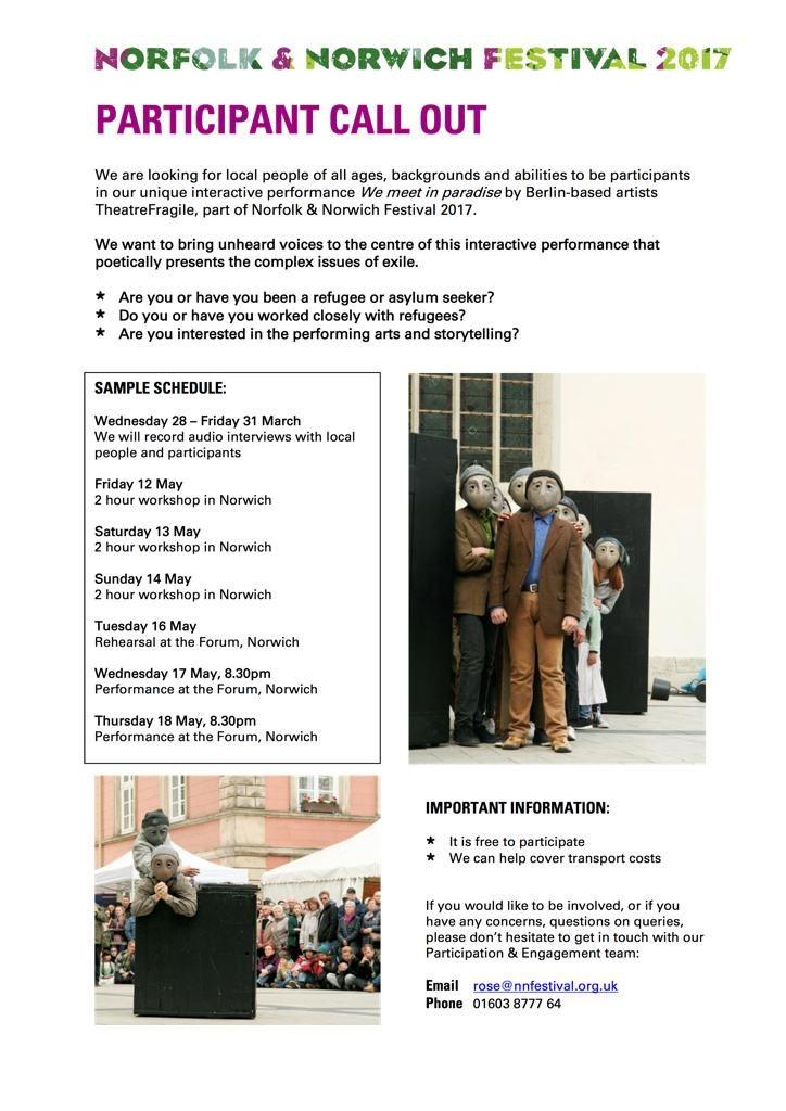 participant information call-N&N Festival 2017